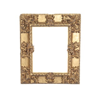 Rare 17th Century Giltwood Italian Picture Frame For Sale