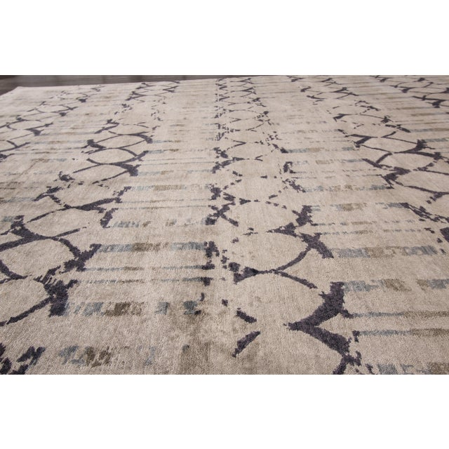 "Textile Apadana - 21st Century Contemporary Indian Rug, 8' x 9'9"" For Sale - Image 7 of 7"