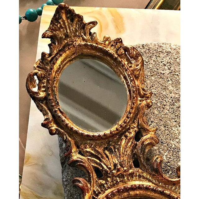 e61d68357350 Vintage Gold Small Double Vanity Mirror