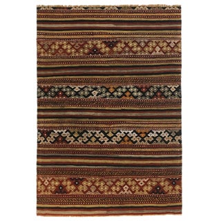 Vintage Balikesir Kilim in Golds, Reds, and Black | 3'4 X 5'1 For Sale
