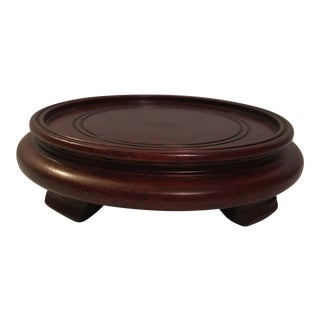 Chinese Carved Hardwood Pedestal Base
