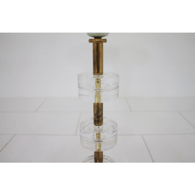 Mid-Century Modern Brass and Glass Table Lamp by Luxus Sweden, Circa 1960s For Sale - Image 3 of 9