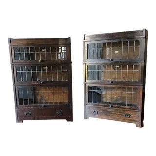 1910s Globe Wernicke Barrister Bookcases - a Pair For Sale