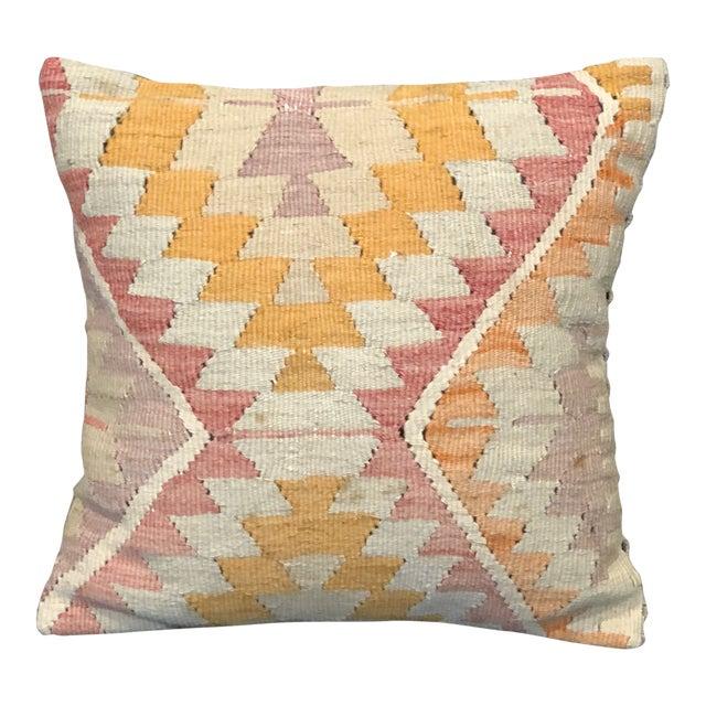 Antique Kilim Throw Pillow For Sale