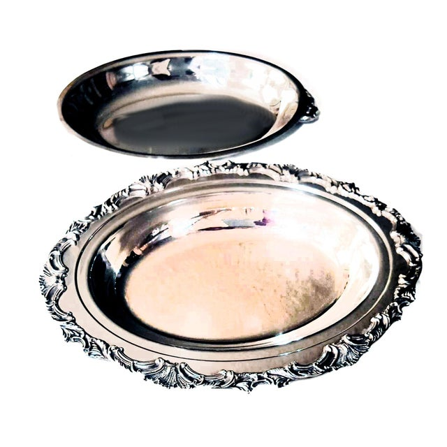 Ascot by Community Silverplate Vegetable Dish, Double/Covered For Sale In Palm Springs - Image 6 of 7
