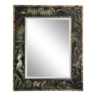Hand Painted Tropical Table Mirror