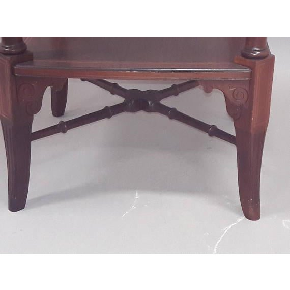 English Inlaid Rosewood Table A - Image 8 of 9
