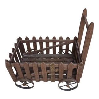 Antique Primitive Pull Cart For Sale