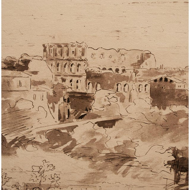 "1950s ""The Colosseum"" by Jean-Baptiste-Camille Corot, Large Vintage Lithograph For Sale - Image 5 of 12"