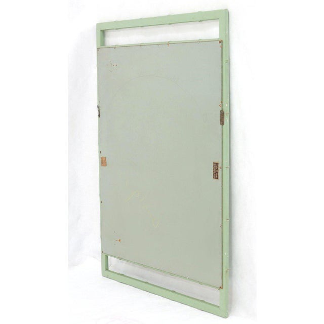 Rectangular Blue Lacquer Faux Bamboo Mirror by Kittinger Mandarin Collection For Sale In New York - Image 6 of 9