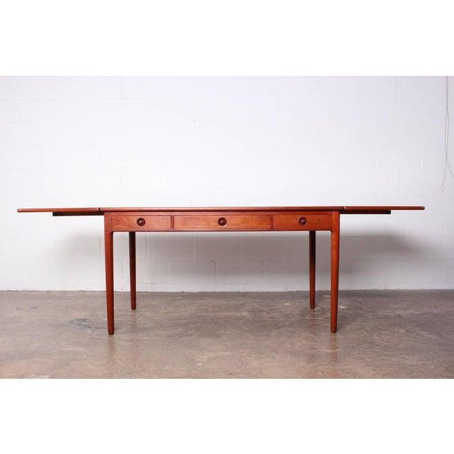 Hans Wegner Drop-Leaf Table Desk AT305 For Sale - Image 10 of 10