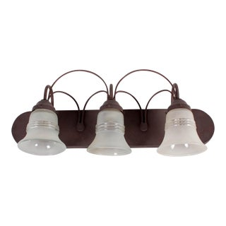 Traditional Three Lamp Metal Wall Sconce