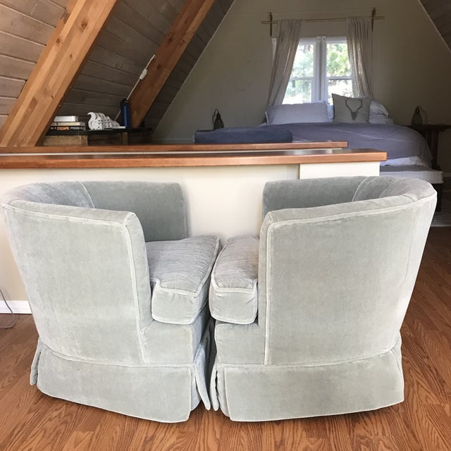 1960s Mohair Club Chairs For Sale - Image 5 of 9