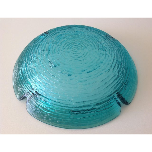 Glass Anchor Hocking Vintage Teal Ashtray For Sale - Image 7 of 8
