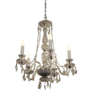 Restored Waterford Chandelier With Czech Crystals For Sale