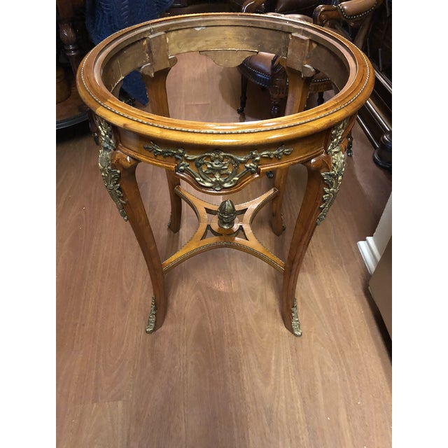 Metal French Ormolu Mounted Side Marble Tables - a Pair For Sale - Image 7 of 13