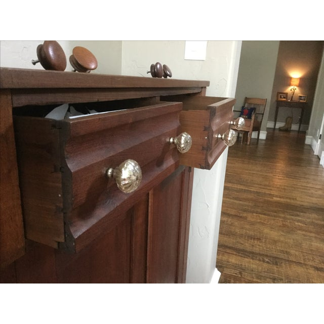 19th-C. Cherry Cupboard - Image 4 of 6
