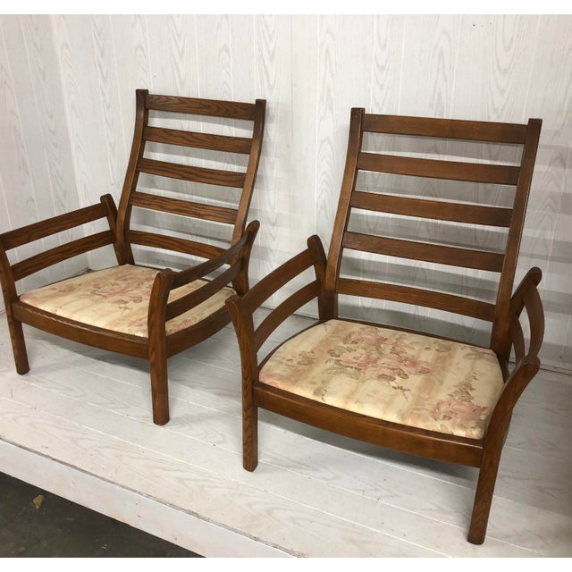 1980s Mid-Century Modern Ercol Savlle Arm Chairs - a Pair For Sale - Image 9 of 10