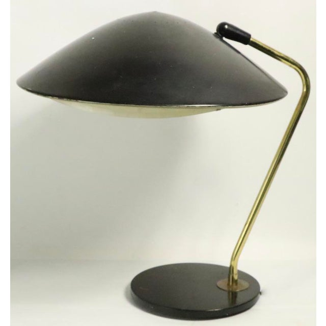 1950s Mid Century Disk Lamp by Thurston for Lightolier For Sale - Image 5 of 10