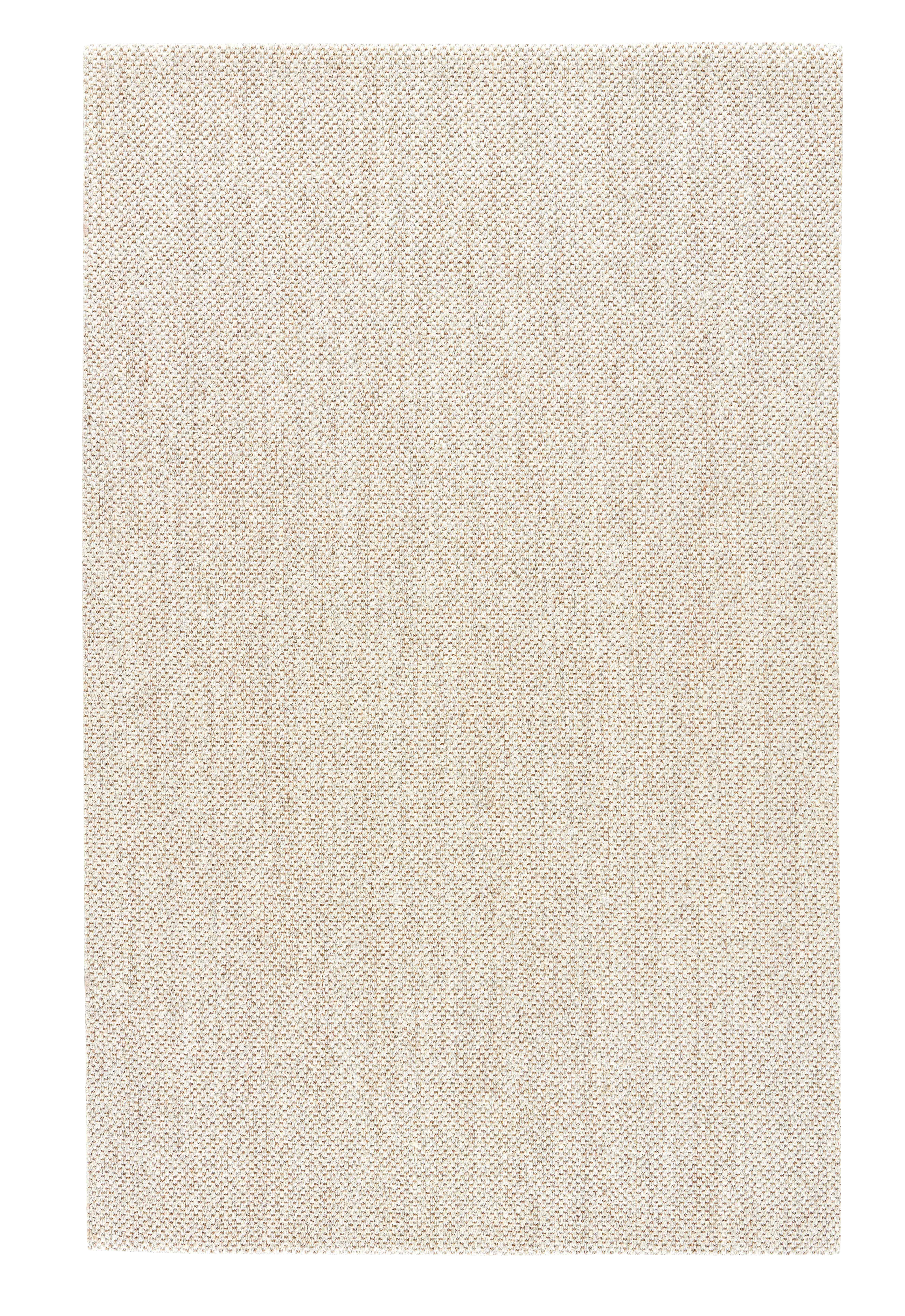 Jaipur Living Naples Natural Solid White/ Taupe Area Rug - 9′6″ × 13′6″