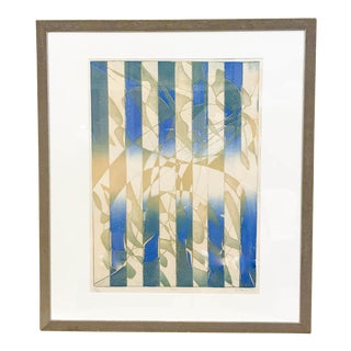 1974 Signed Abstract Lithograph - Titled Pillars - Listed Artist Stanley William Hayter