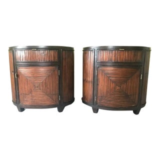 McGuire Faubourg Nightstands - A Pair For Sale