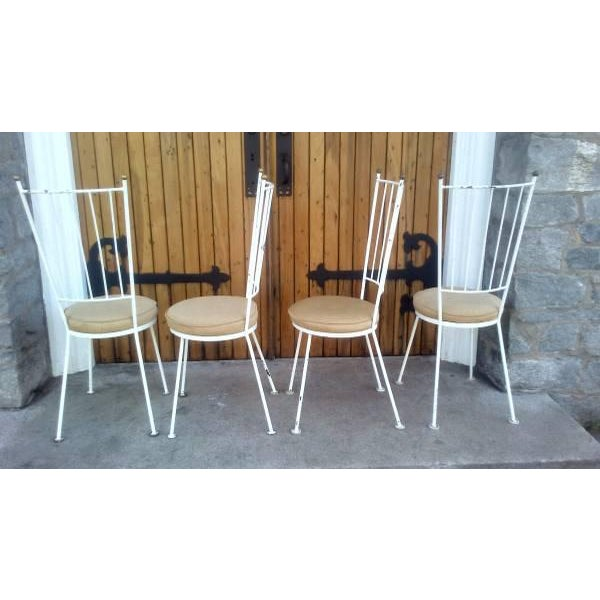 Mid-Century McCobb Style Wrought Iron Chairs - Set of 4 - Image 4 of 8