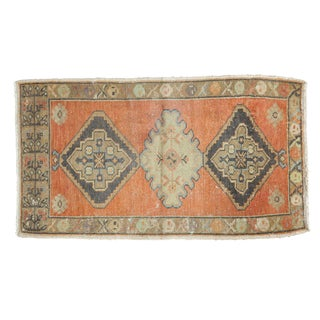 "Vintage Distressed Oushak Rug- 1'10"" X 3'4"" For Sale"