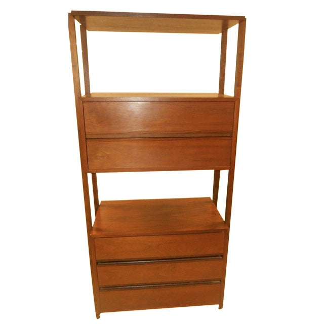 Stanley Danish Mid-Century Modern Wall Unit - Image 1 of 8