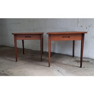 1960s Mid Century Modern Jens Risom Style Side Tables-A Pair Preview