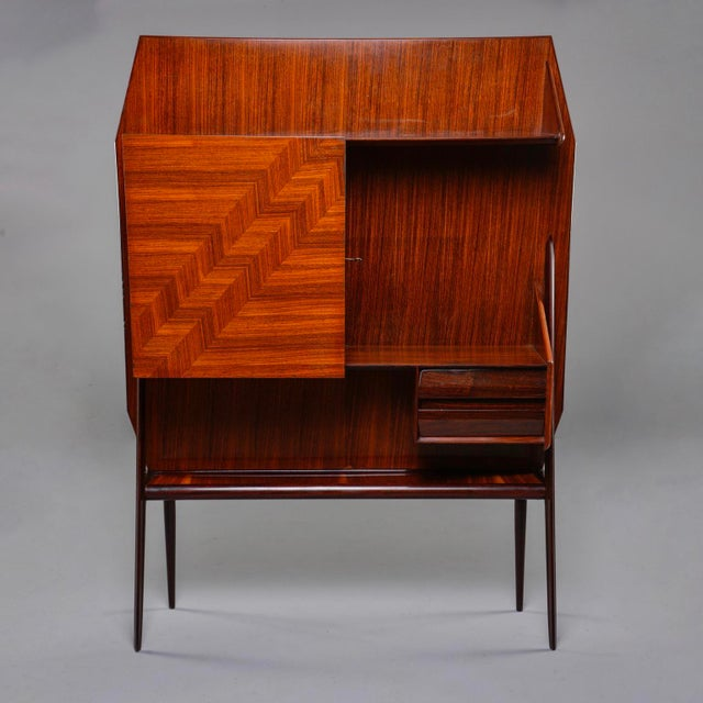 Mid Century Italian Free Standing Rosewood Wall Unit With Marquetry For Sale - Image 13 of 13