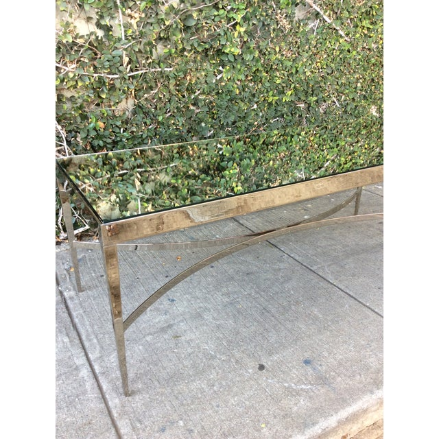 Barbara Barry Mirrored Chrome Coffee Table For Sale - Image 5 of 10