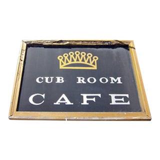 Vintage Cub Room Cafe Restaurant Sign For Sale