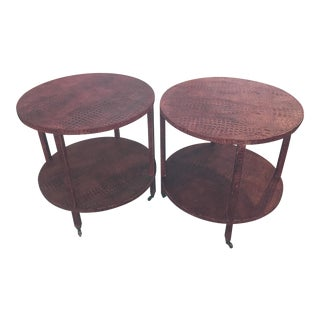 Late 20th Century Crocodile Embossed Tables For Sale