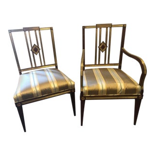 Set of Eleven 19th Century Russian Neoclassical Dining Chairs For Sale
