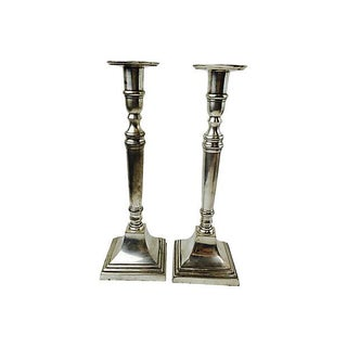 Pewter Candleholders - A Pair