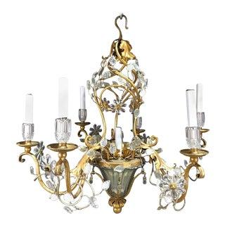 Maison Baguès Crystal Pagoda Chandelier With Seven-Lights For Sale