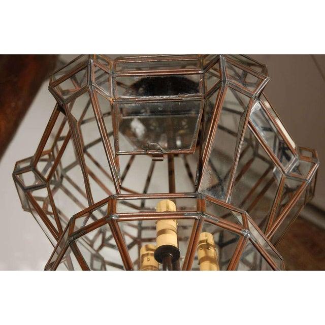 Mid 20th Century Granada Moroccan Clear Glass Pendant For Sale - Image 5 of 10