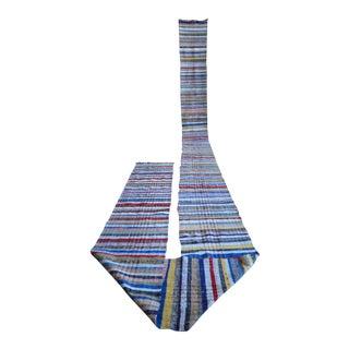 Vintage Handmade Stair Runner Ragrug Runner Rug Extra Long Runner Stair Tread- 1′10″ × 31′6″ For Sale