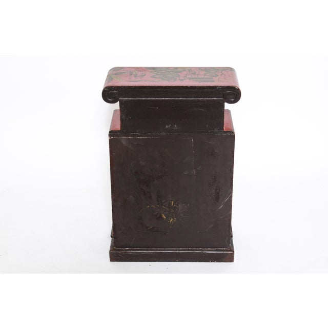Chinoiserie Diminutive Cabinet With Painted Scenes For Sale In New York - Image 6 of 7