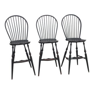 Windsor Back Tavern Stools - Set of 3