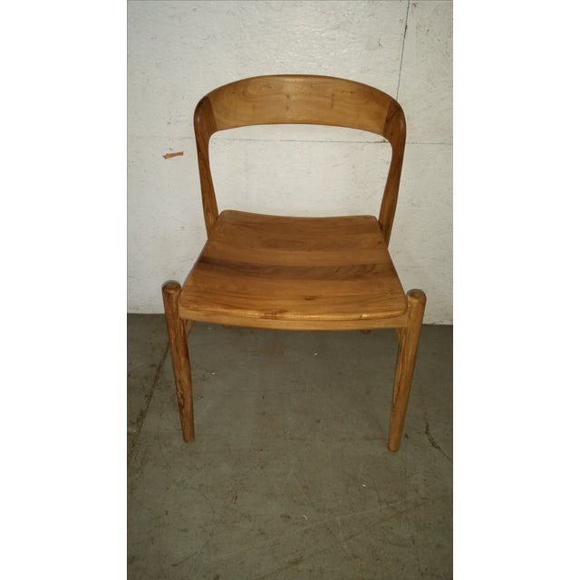 Theodore Mid-Century Modern Teak Side Chair - Image 3 of 4