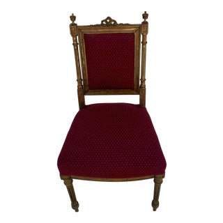 Antique Giltwood Louis XVI Style Side Chair