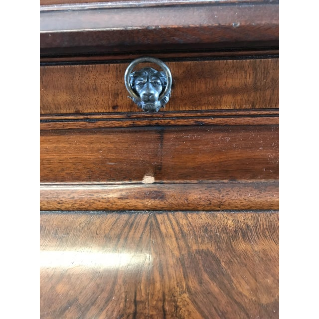 Brown 19th Century American Classical Cylinder Rolltop Secretary Desk For Sale - Image 8 of 13