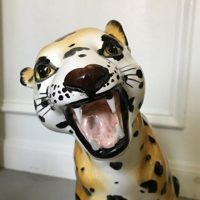 Vintage Hand Painted Leopard Statue - Image 6 of 6