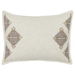 Diamond Edge Sage Ivory Pillow
