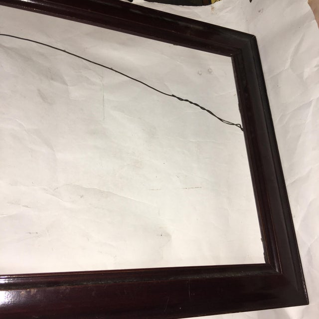 Wood Victorian Mahogany Picture Frame For Sale - Image 7 of 9