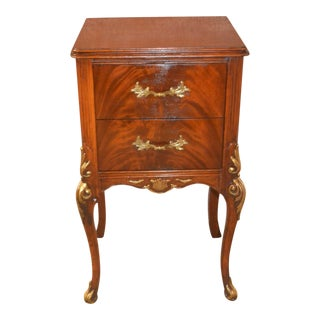 1950s French Style Two-Drawer Nightstand