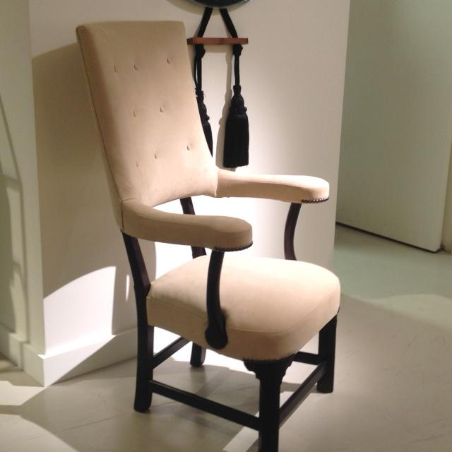 "English Traditional Truex American Furniture ""The George Chair"" For Sale - Image 3 of 4"