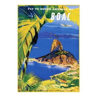 Matted and Framed Vintage South America Travel Poster